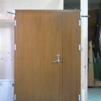 Dviejų daliu rudos durys